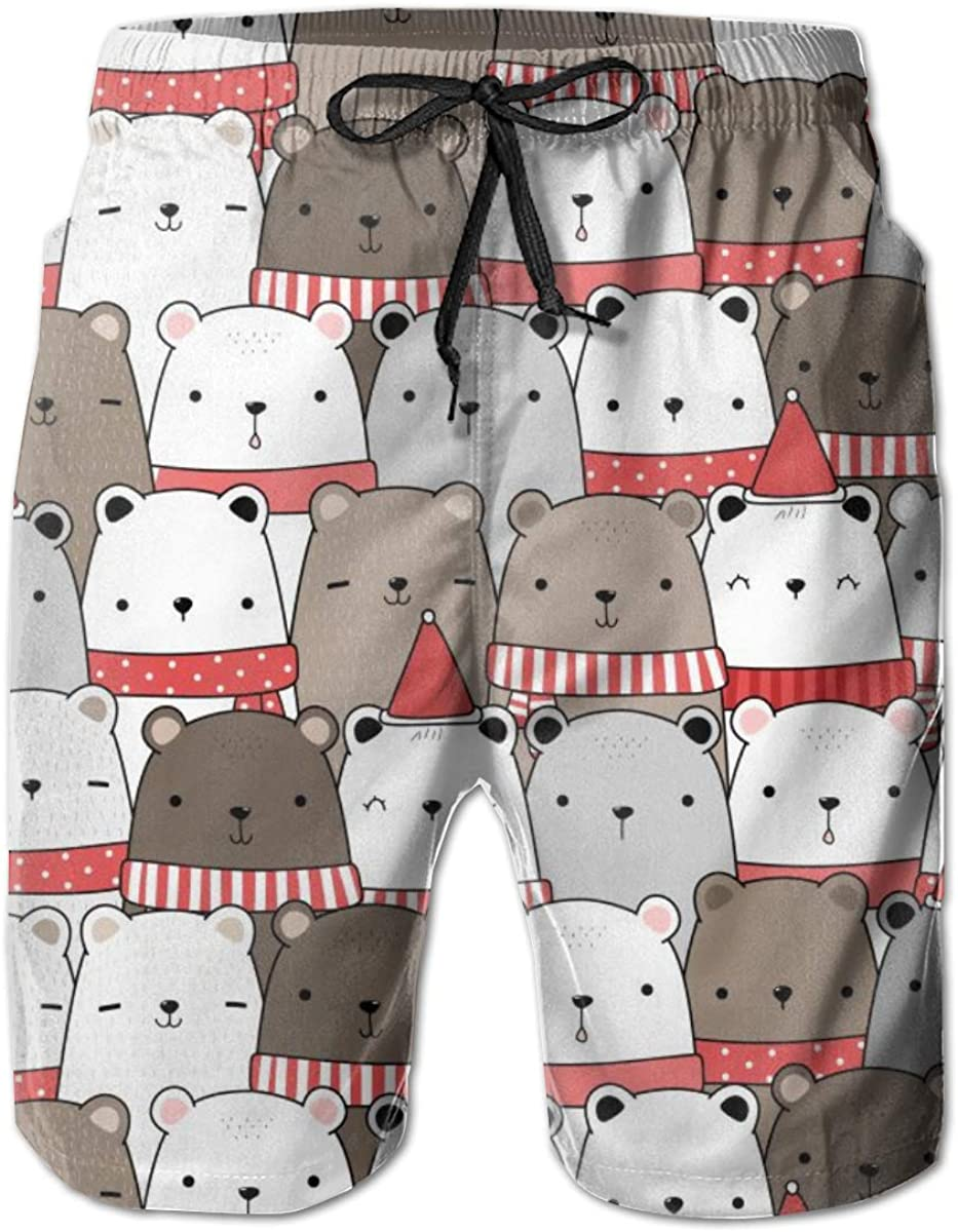 MIPU SHANGMAO Mens Cute Elephant Summer Beach Shorts Leisure Quick Dry Swimming Pants
