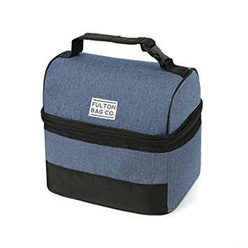 08dd89385e Amazon.com   Fulton Bag Co. Bucket Lunch Food Bag (Blue)   Baby