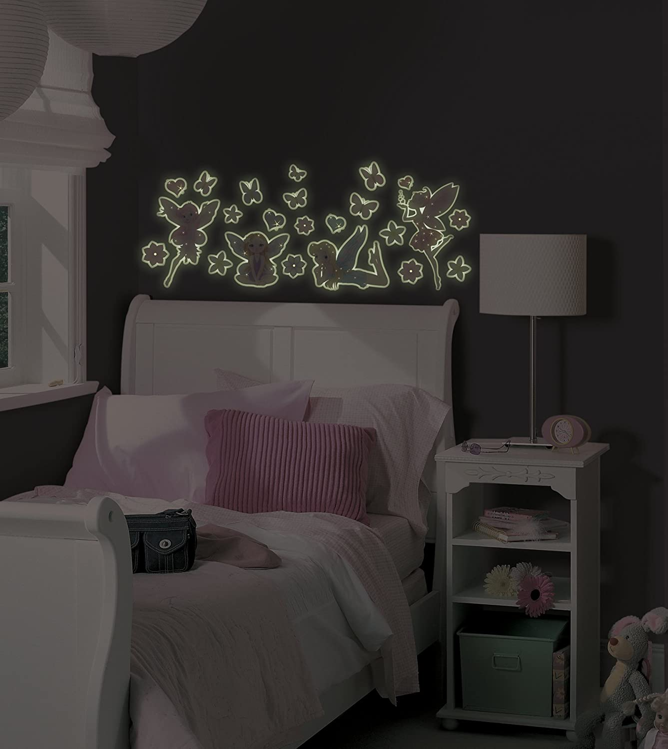 mystyle ms0103 fairies glow in the dark peel and stick wall art mystyle ms0103 fairies glow in the dark peel and stick wall art 23 total pieces decorative wall appliques amazon com