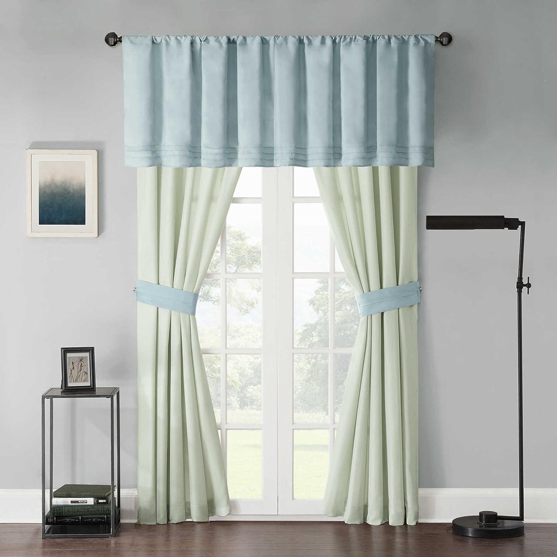 Amazon Com Bed Bath Beyond Beechwood Spa Curtain Panel Pair