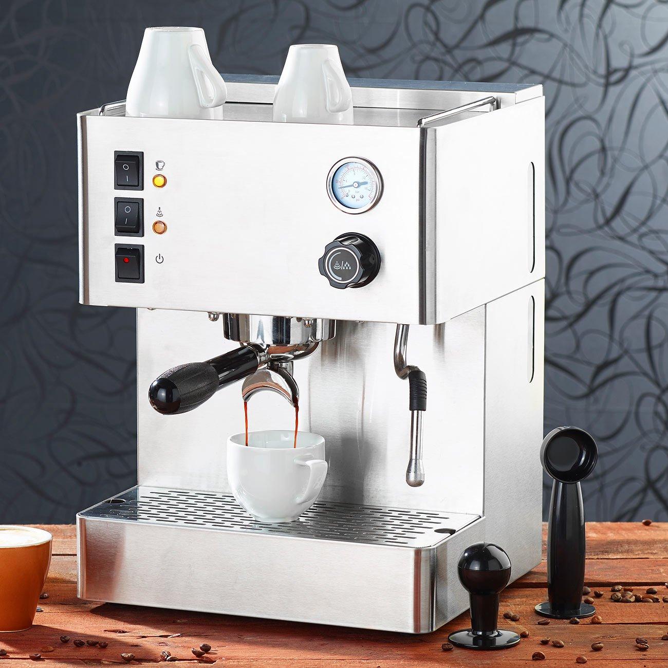 Cucina di Modena ES-800 - Cafetera espresso de 1500. mm con manómetro: Amazon.es: Hogar