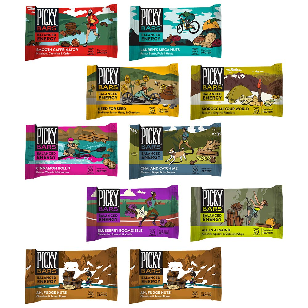 Picky Bars Real Food Energy Bars Whole Shebang Variety Pack, 10 Count by Picky Bars