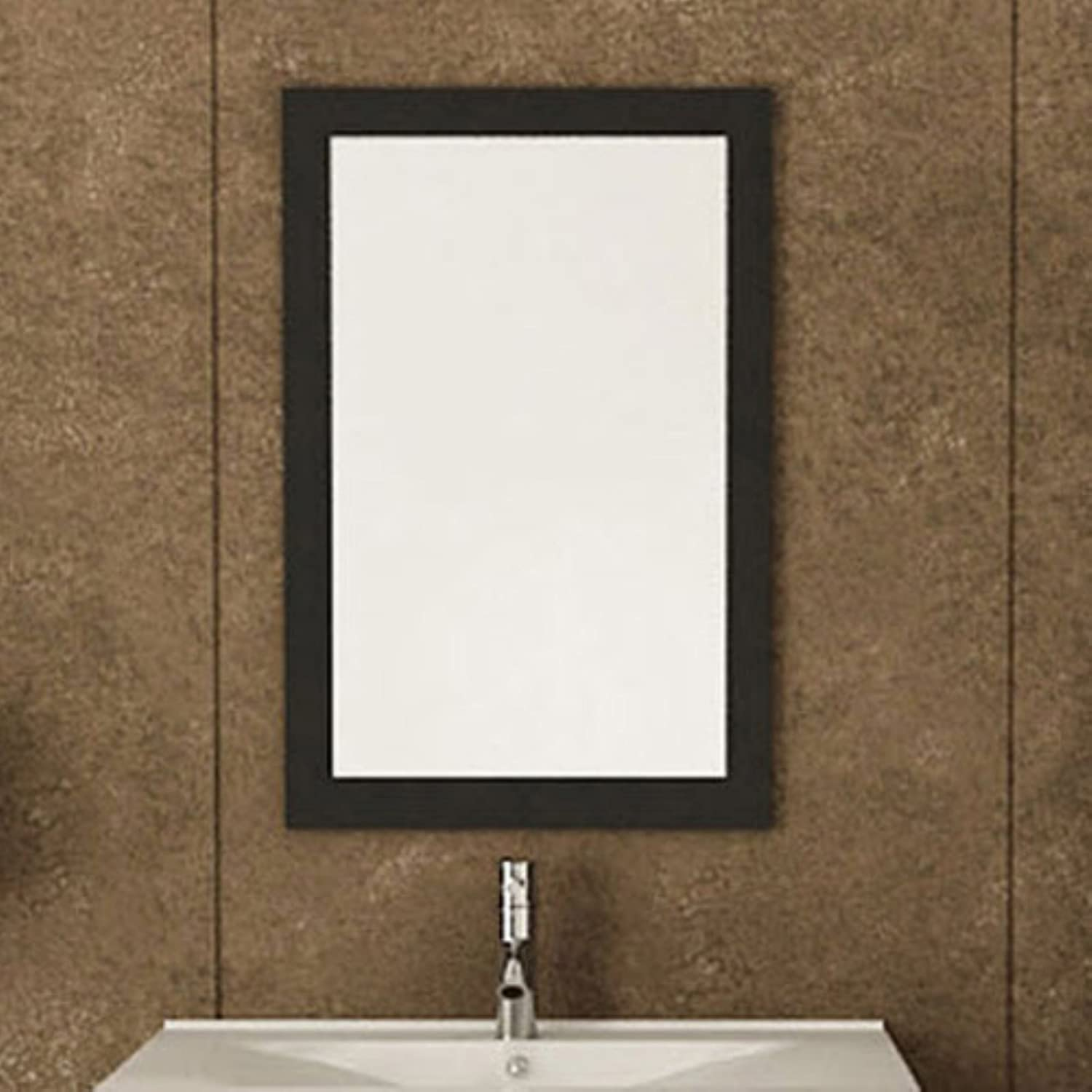 Amazon.com: JWH Living Bathroom Mirror with Solid Wood Frame: Home ...
