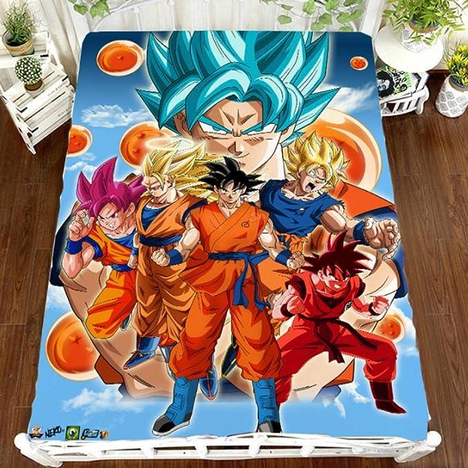BLAMARIA Mantas para Cama Anime Dragon Ball Super Saiyan Manta De Tiro De Impresión Suave Felpa Franela Sofá Siesta Manta Sábanas Hogar Bedure (B) 150 * 200 Cm: Amazon.es: Hogar