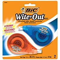 Deals on BIC Wite-Out EZ Correct Correction Tape 2-Count