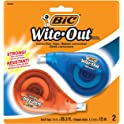 2-Pack BIC Wite-Out EZ Correct Correction Tape