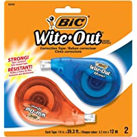BIC Wite-Out EZ Correct Correction Tape, 2-Count