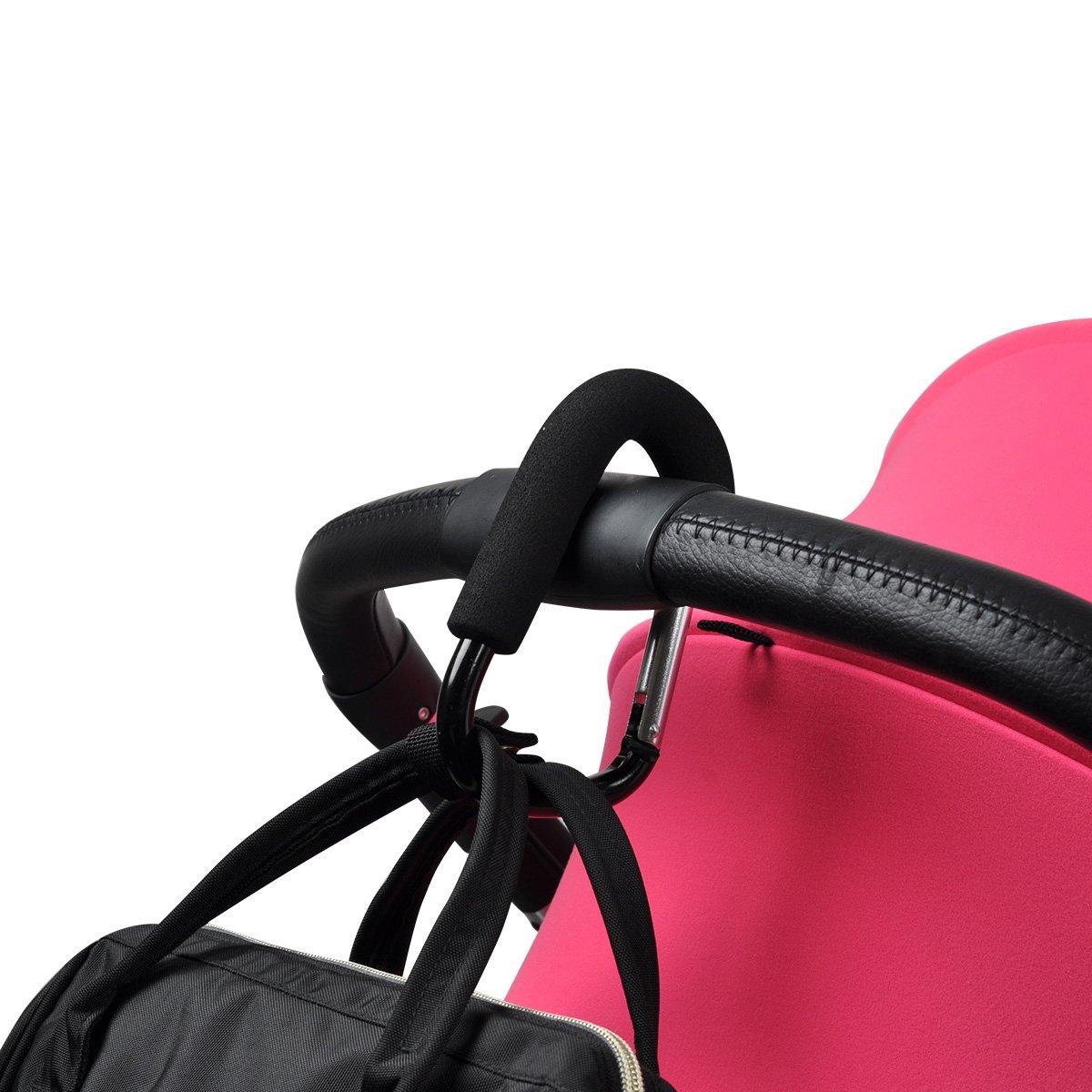 Bebamour Large Buggy Clips for Pram Handy Stroller Hook for Nappy Changing Bag UKS02