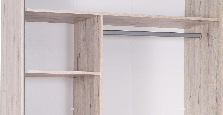 Marca Amazon - Movian Saale - Armario de 2 puertas correderas con espejo, 250 x 217,6 x 66 cm (roble Wellington): Amazon.es: Hogar