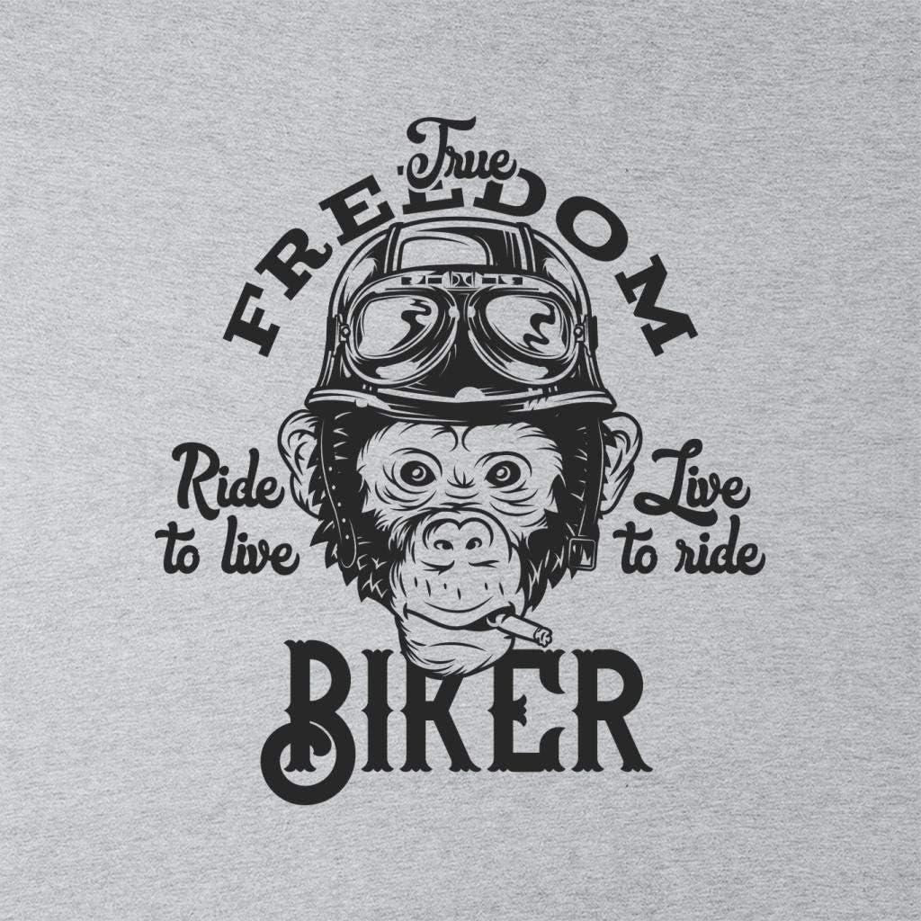 Coto7 Freedom Biker Monkey Kids Sweatshirt