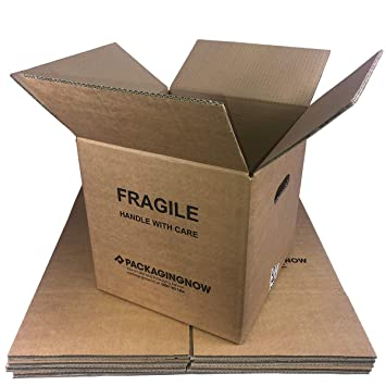 Pack of 15 15 x Double Wall Cardboard Moving Boxes 18 x 13 x 13 Inch 457 x 330 x 330mm Heavy Duty Packing House Removal Boxes with Carry Handles