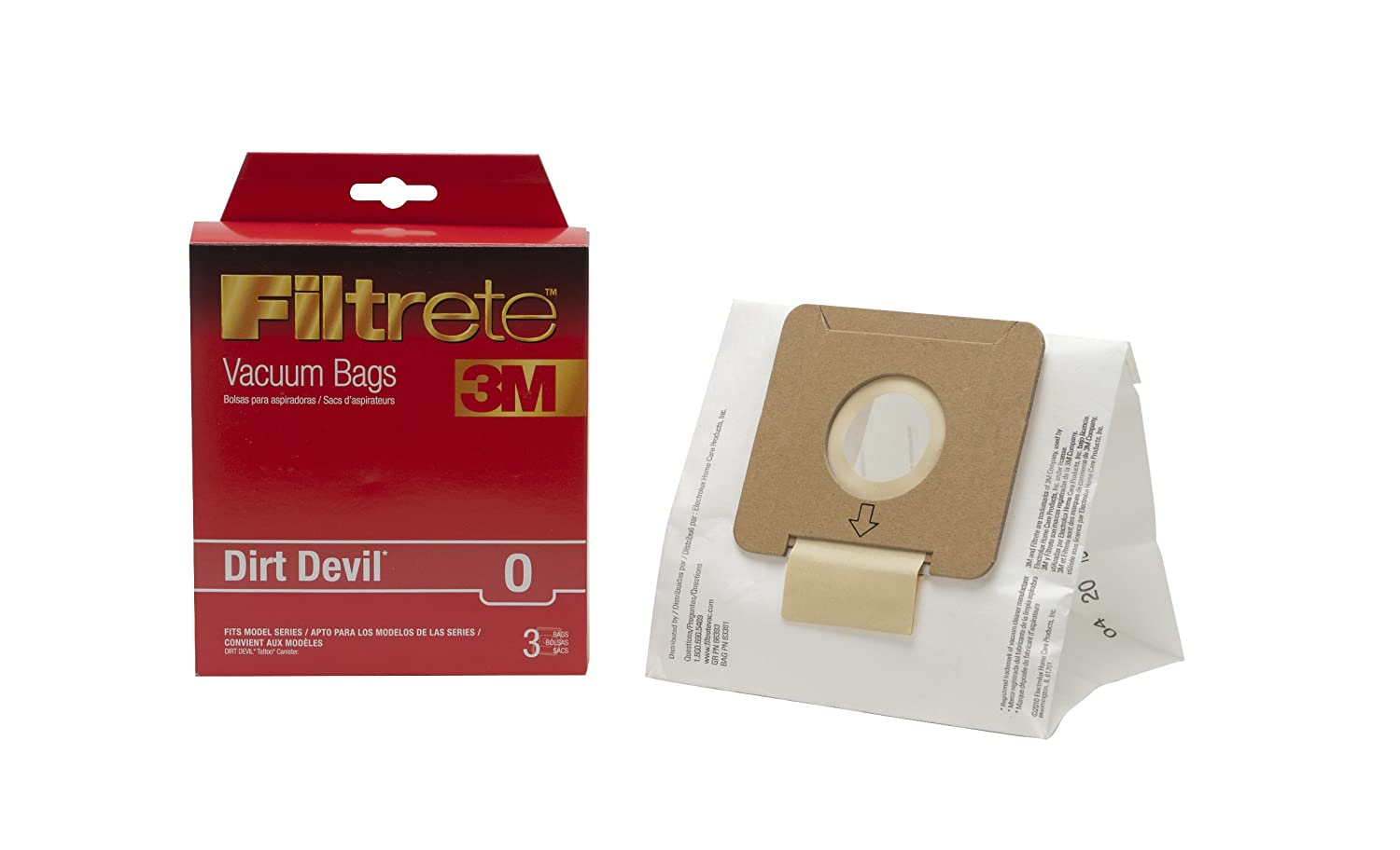 3M Filtrete Dirt Devil O (Tattoo) Allergen Vacuum Bag, White