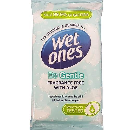 Wet Ones Be Gentle Original Antibacterial 40 Wipes Pack