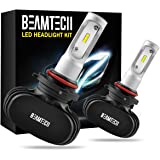 BEAMTECH 9005 LED Headlight Bulb, 50W 6500K 8000Lumens Extremely Brigh HB3 CSP Chips Conversion Kit