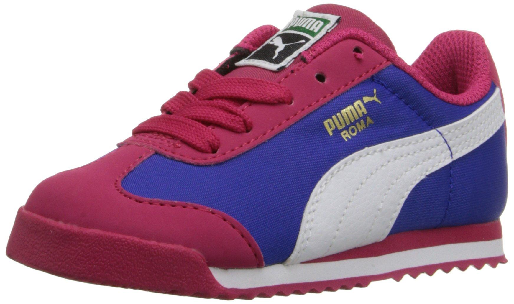 PUMA Roma Basic Summer Kids Classic Style Sneaker (Toddler/Little Kid) , Rose Red/White, 9 M US Toddler