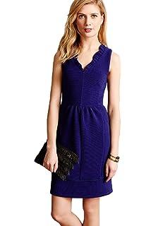 Maeve Ruffled Ottoman Dress (Blue)