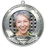 I Thought of You with Love Today Brushed Metal Photo Ornament - Memorial Ornament Engraved with Your Memory Is My Keepsake - Loss of a Loved One - Bereavement Gift - In Loving Memory