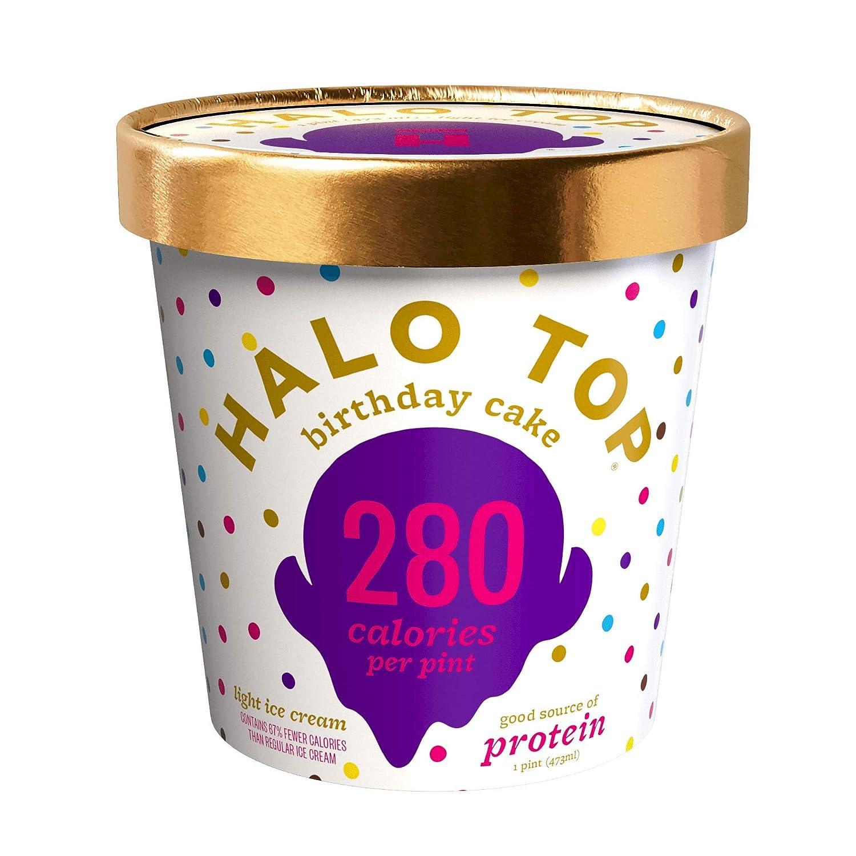 Halo Top Light Ice Cream, Birthday Cake, 16 oz (Frozen)