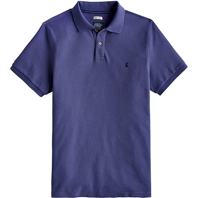 fdd475ee9a0 Joules Mens Woody Slim Fit Polo Shirt Small Skipper Blue at Amazon ...