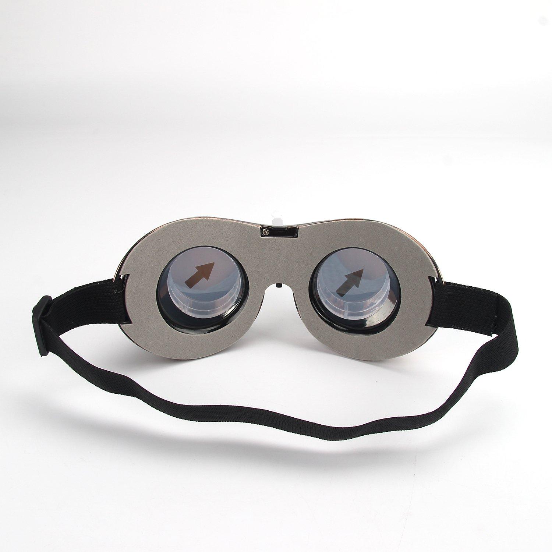 Led Brille Schwarz DAXIN Leuchtbrille Partybrille Steampunk Brille f/ür Masquerade Party Nacht Pub Bar Klub Rave