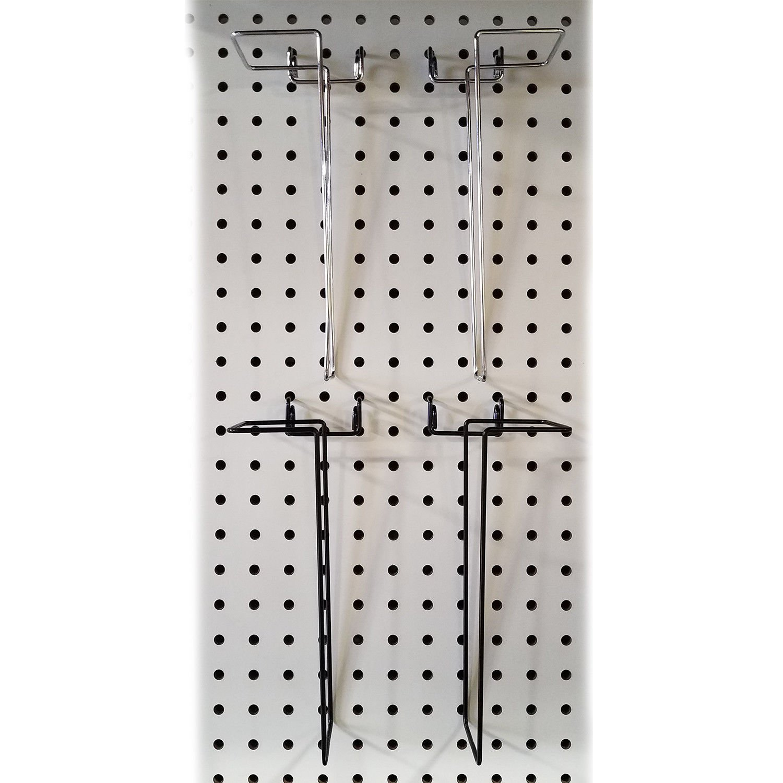 10 Pack Pegboard Gridwall Adjustable Width Brochure Magazine /& Literature Holder Black Slatwall