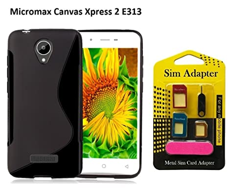 100% authentic ff04f fabd9 Micromax Canvas Xpress 2 E313 Back Case Cover + Metal: Amazon.in ...