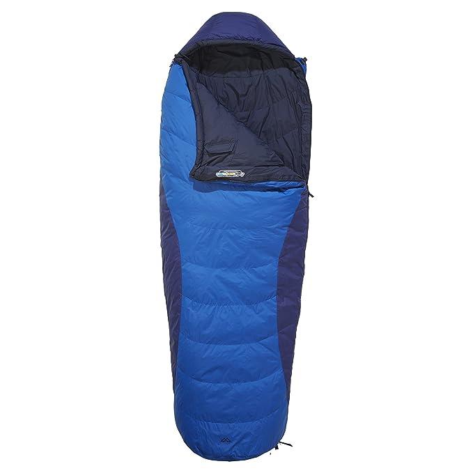 Kathmandu Columbus v7 Prontotec semi-rectangular pato abajo saco de dormir Morado azul oscuro Talla:REGL: Amazon.es: Deportes y aire libre