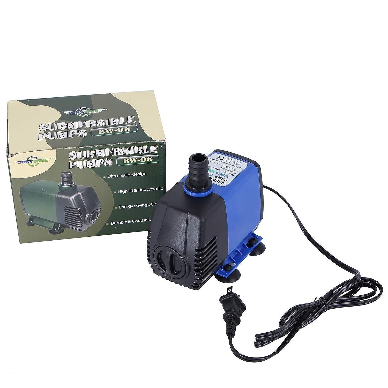 32W,2800LPH(739.7GPH),bluee BOKYWOX 110-120V Submersible Water Pump 2800LPH Fish Tank Pond Fountain Fall Hydroponic (32W,2800LPH(739.7GPH),bluee)