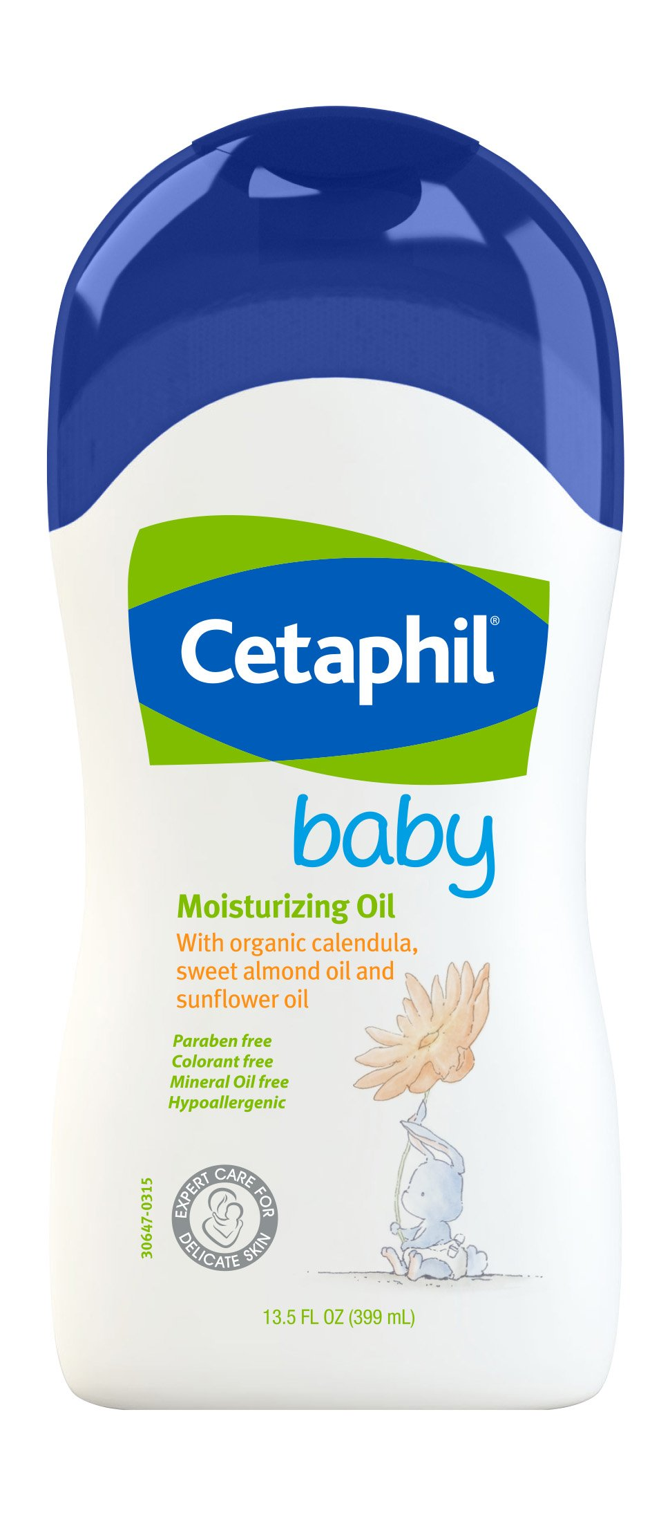 Cetaphil Baby Moisturizing Oil with Organic Calendula, Sweet Almond Oil & Sunflower Oil, 13.5 Ounce by Cetaphil Baby