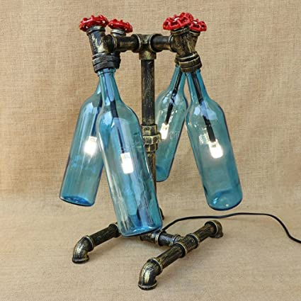 Pumpink Creativo llevó la botella de cristal G4 escritorio luz antigua industria Retro antiguo lámpara de