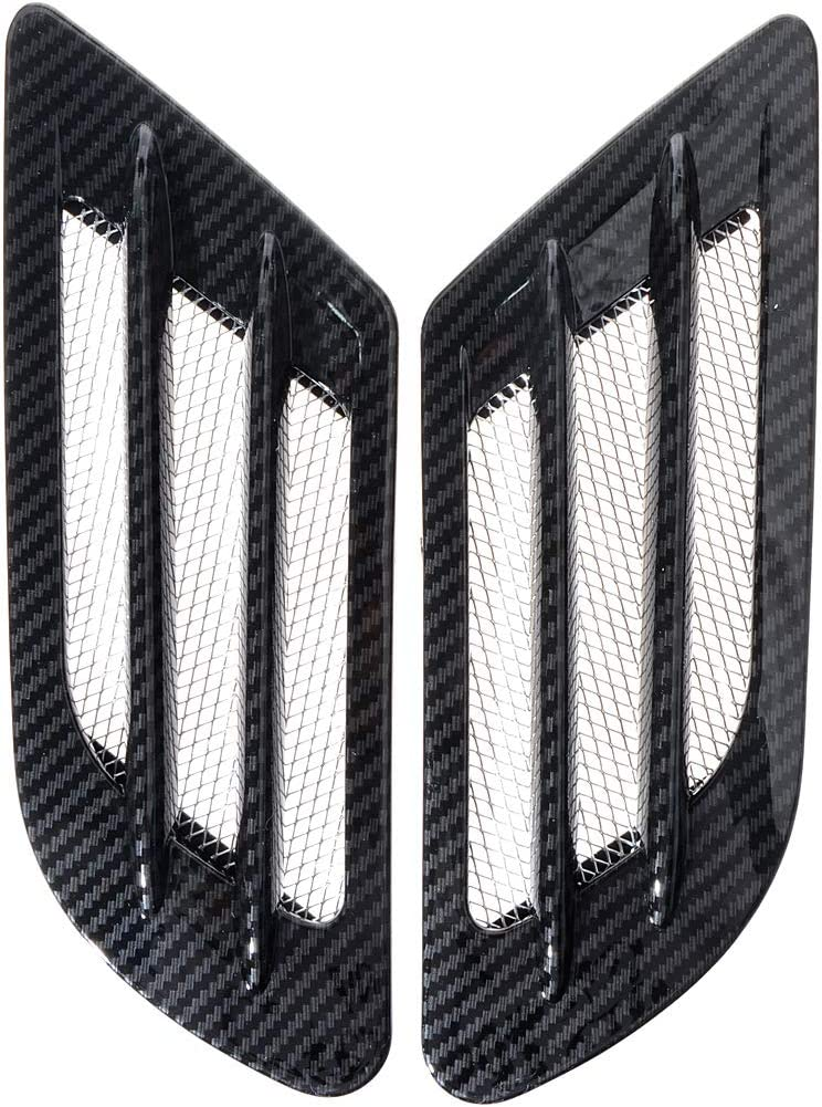ZYHW Car Air Flow Sticker Adhesive Side Vent Fender Intake Decor Black 2Pcs