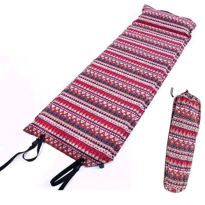Colchoneta hinchable con almohada, material de algodón viento ...