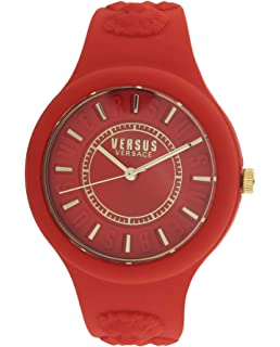 Versus By Versace Womens Fire Island Quarz Rubber Silicone Watch, Model: SOQ100016