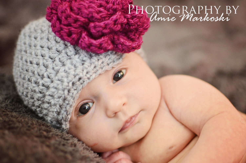 crochet girl hat, baby girl hat newborn girl hat girl beanie hat