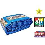 SHREE POLY TARPAULIN Pure Virgin UV Treated 250 GSM Waterproof Plastic Sheet (9x9ft, Blue)