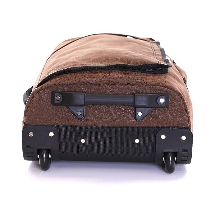 Karabar Hudson ensemble de 2 sacs de cabine à roues, Marron