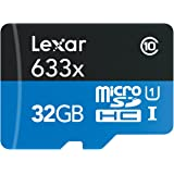 Lexar High-Performance Scheda MicroSDHC da 32 GB, 633x, UHS-I, Adattatore SD Incluso