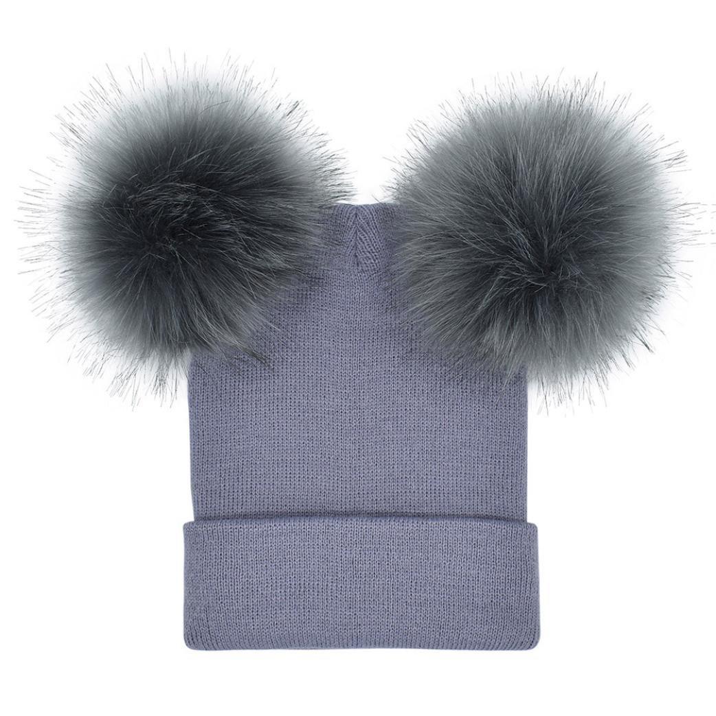 Mujeres invierno caliente crochet tejer gorro sombrero gorro con ...