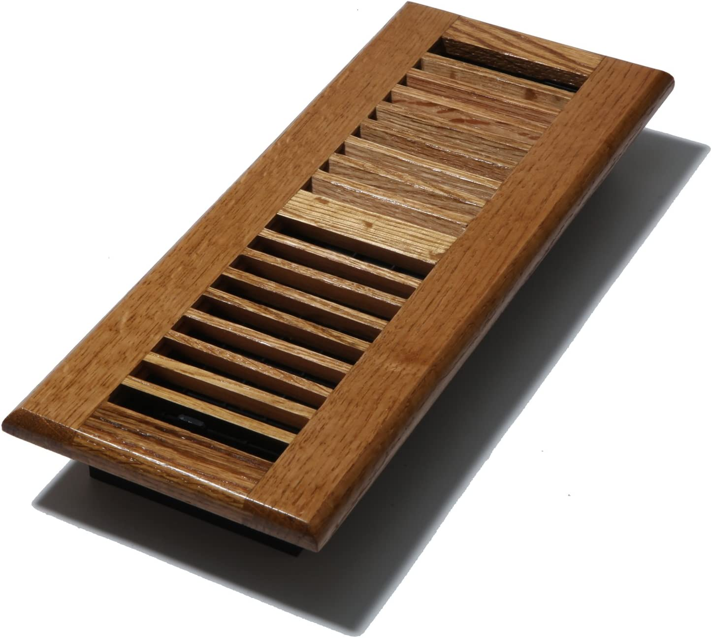 Decor Grates WL412-M 4-Inch by 12-Inch Wood Louver Floor Register, Medium Oak