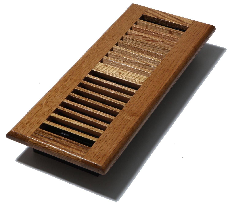 Decor Grates WL412-M 4-Inch by 12-Inch Wood Louver Floor Register, Medium Oak by Decor Grates