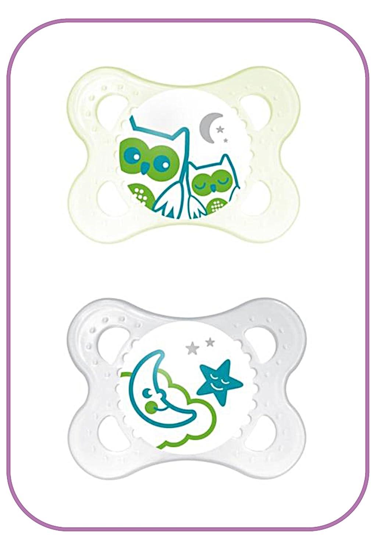 MAM - Chupetes de noche 0 + meses (Unisex) - Pack de 2 ...