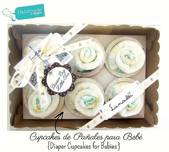 Caja de Cupcakes hechos con Pañales DODOT | Baby Shower Gift Idea | Obsequio para bautizo