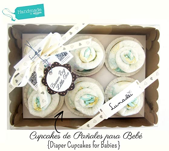 Caja de Cupcakes hechos con Pañales DODOT | Baby Shower Gift Idea ...
