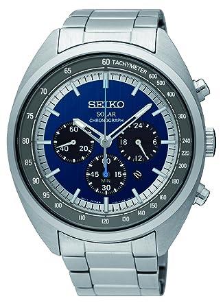 Seiko Reloj Cronógrafo para Hombre de Energía Solar con Correa en Acero Inoxidable SSC619P1: Amazon.es: Relojes