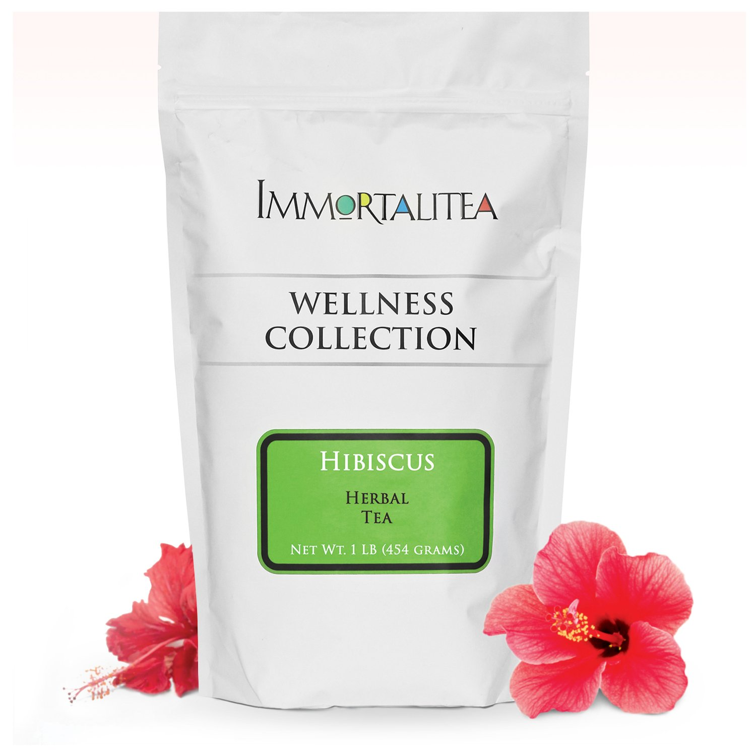Hibiscus Tea - Roselle Whole Flower Loose Leaf Tea, Lower Blood Pressure, Boost Your Immune System & Fight Aging with Pure Antioxidant Power of Hibiscus Flowers Tea, Caffeine-free Herbal Tea-1 lb