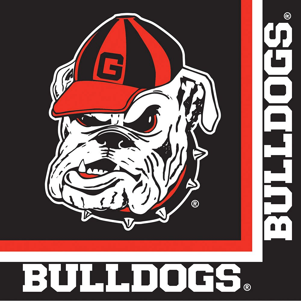 Georgia Bulldogs Lunch Napkins, 20-Count by Creative Converting (Image #1)