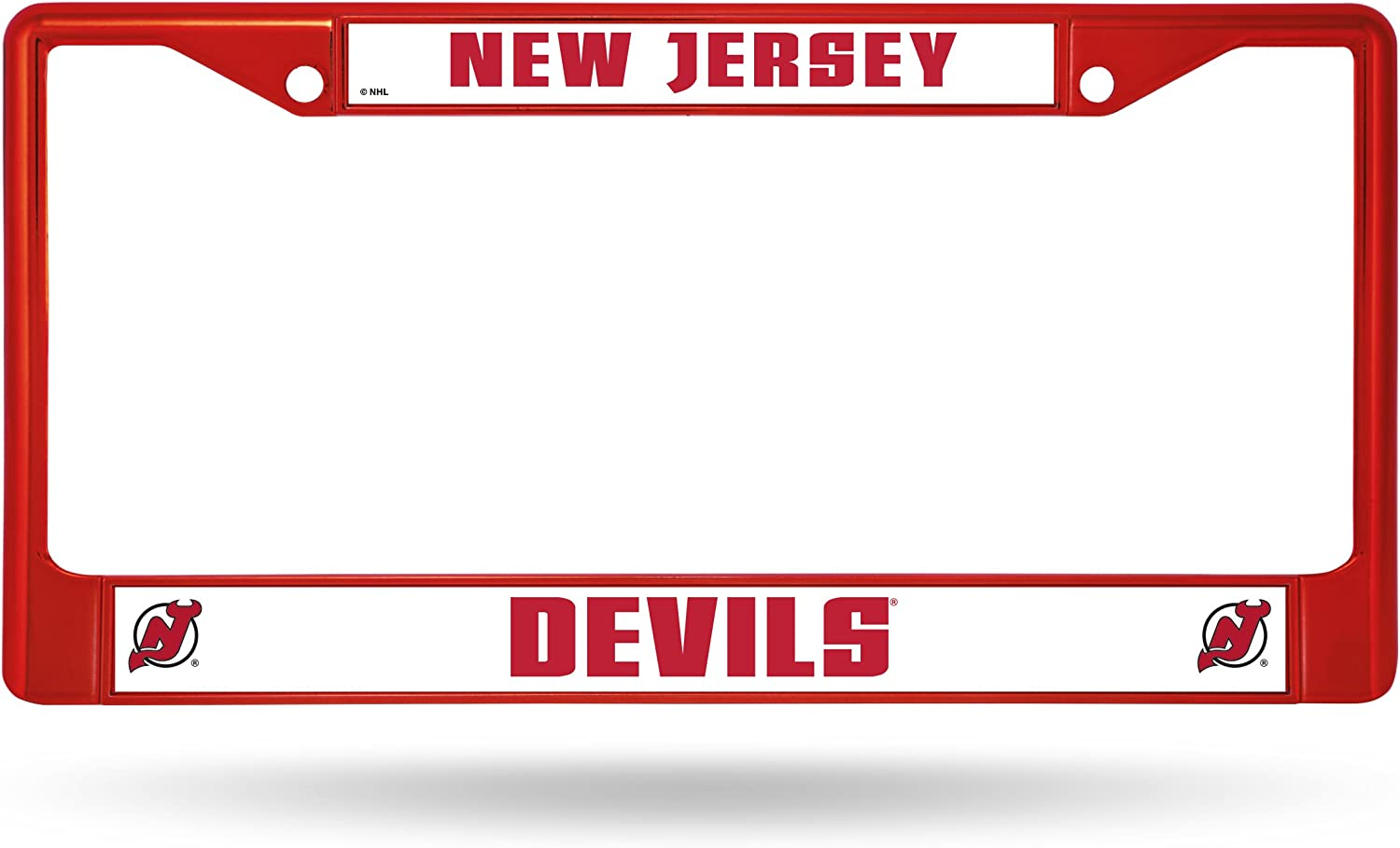NHL Rico Industries  Standard Chrome License Plate Frame New Jersey Devils