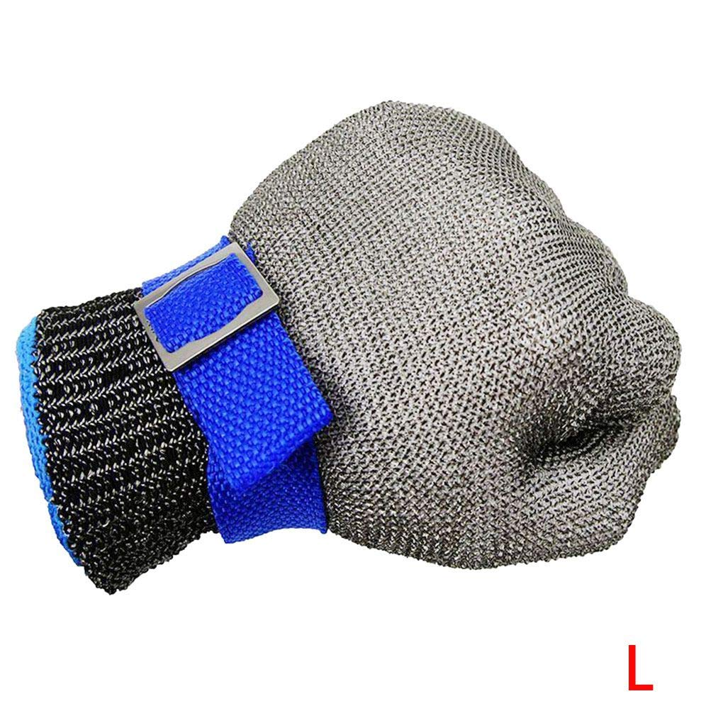 MuLuo Anti-Cut Gloves Safety Cut Proof Stab Resistant Stainless Steel Wire Metal Mesh Butcher Cut-Resistant Gloves