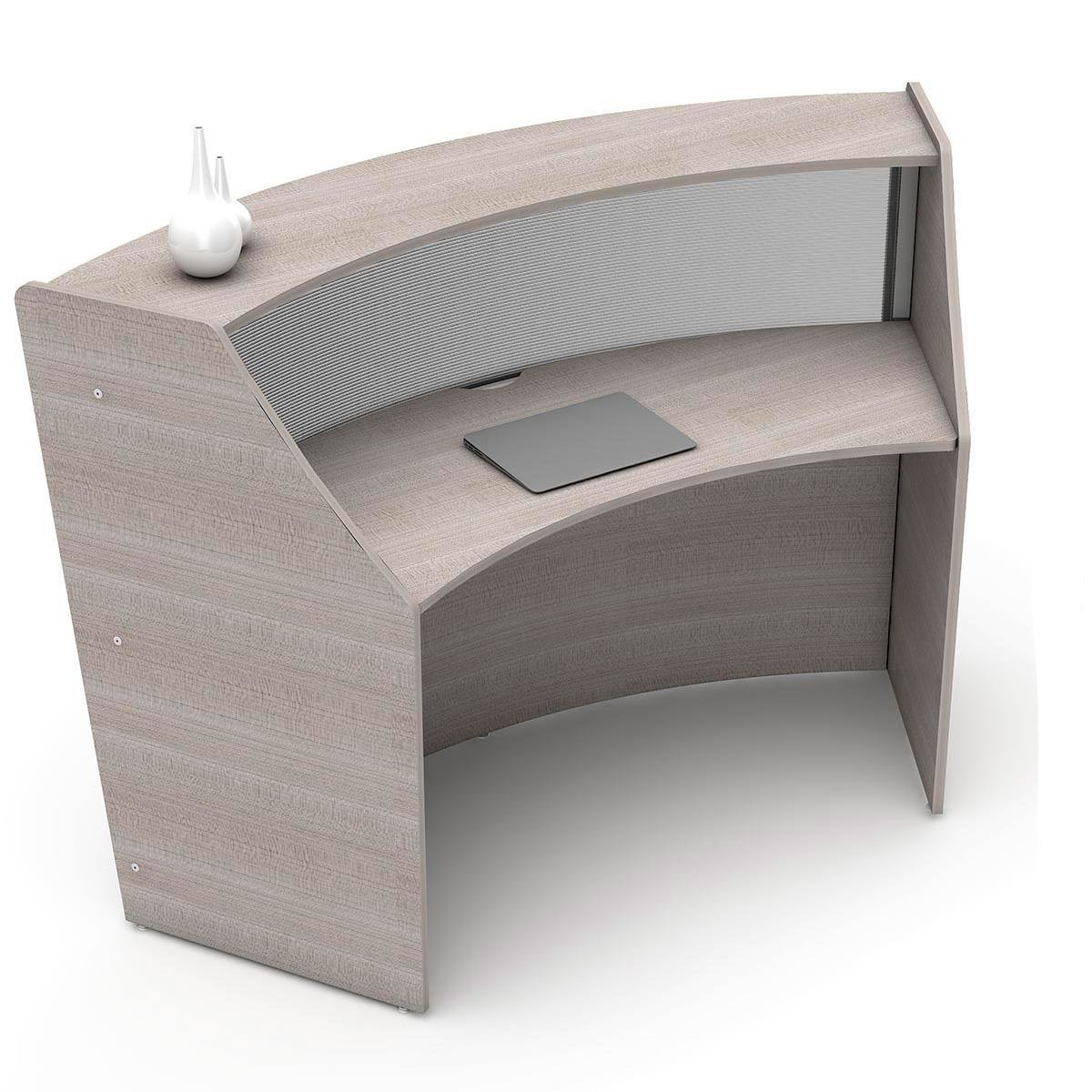 Linea Italia Curved Reception Desk, Single Unit,