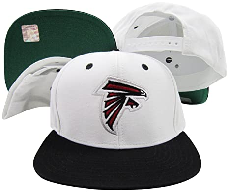 4934f68bf4d Image Unavailable. Image not available for. Color  Reebok Atlanta Falcons  White Black Two Tone Snapback Adjustable Plastic Snap Back Hat Cap